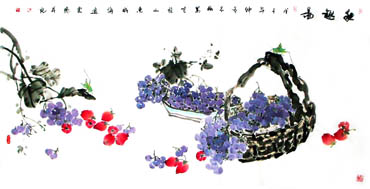 Chinese Grape Painting,66cm x 136cm,2360084-x