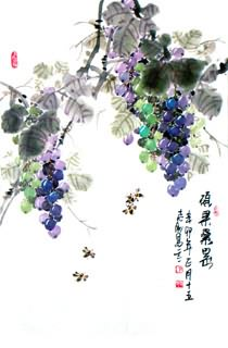 Chinese Grape Painting,50cm x 70cm,2360086-x