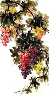 Chinese Grape Painting,66cm x 136cm,2397022-x