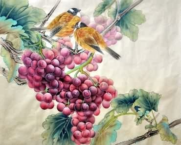 Chinese Grape Painting,45cm x 57cm,2416019-x
