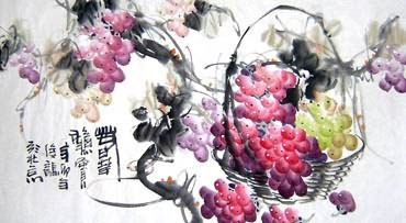 Chinese Grape Painting,50cm x 100cm,2469001-x