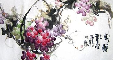 Chinese Grape Painting,50cm x 100cm,2469003-x