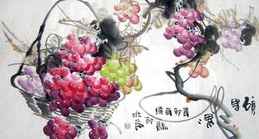 Chinese Grape Painting,50cm x 100cm,2469005-x