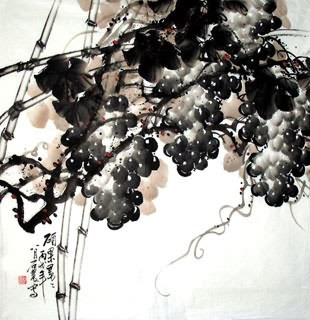 Chinese Grape Painting,66cm x 66cm,2471004-x