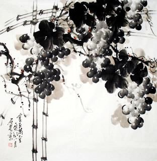 Chinese Grape Painting,66cm x 66cm,2471005-x