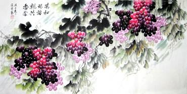 Chinese Grape Painting,69cm x 138cm,2484001-x
