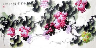 Chinese Grape Painting,69cm x 138cm,2484004-x