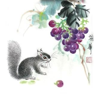 Chinese Grape Painting,33cm x 33cm,2485036-x