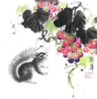 Chinese Grape Painting,33cm x 33cm,2485038-x