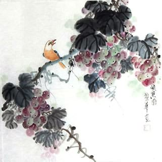 Chinese Grape Painting,50cm x 50cm,2485039-x