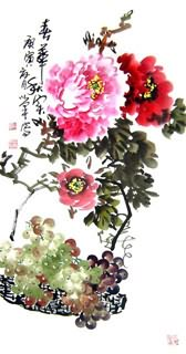 Chinese Grape Painting,50cm x 100cm,2552001-x