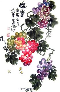 Chinese Grape Painting,45cm x 65cm,2552003-x