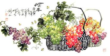Chinese Grape Painting,50cm x 100cm,2552009-x