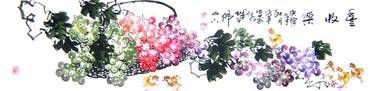 Chinese Grape Painting,33cm x 130cm,2552011-x