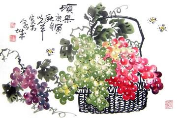 Chinese Grape Painting,43cm x 65cm,2552013-x