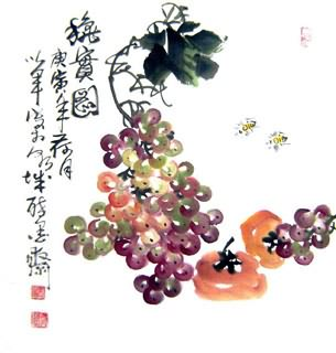Chinese Grape Painting,50cm x 50cm,2552014-x