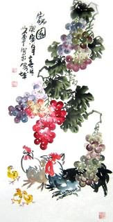Chinese Grape Painting,50cm x 100cm,2552015-x