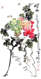 Chinese Grape Painting,50cm x 100cm,2552021-x