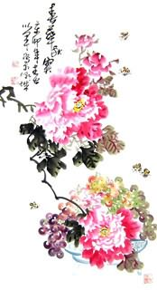 Chinese Grape Painting,50cm x 100cm,2552022-x