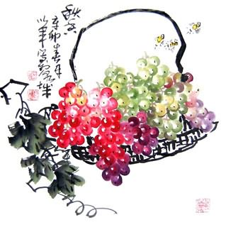 Chinese Grape Painting,50cm x 50cm,2552023-x