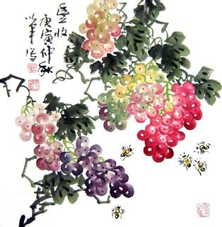 Chinese Grape Painting,50cm x 50cm,2552024-x