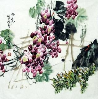 Chinese Grape Painting,69cm x 69cm,2556010-x