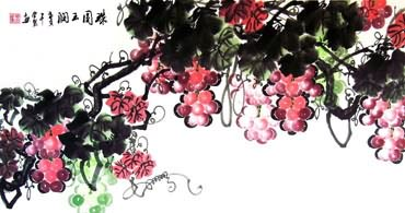 Chinese Grape Painting,50cm x 100cm,2558003-x