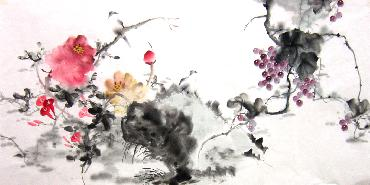 Chinese Grape Painting,66cm x 136cm,yh21101009-x