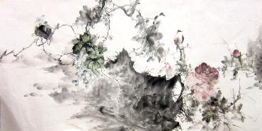Chinese Grape Painting,66cm x 136cm,yh21101010-x