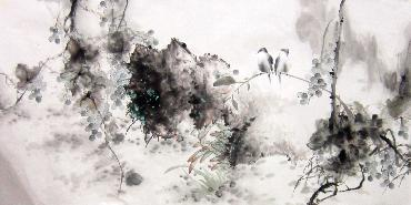 Chinese Grape Painting,66cm x 136cm,yh21101011-x
