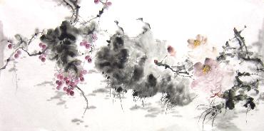 Chinese Grape Painting,66cm x 136cm,yh21101012-x