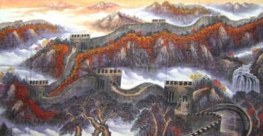 Chinese Great Wall Painting,120cm x 240cm,1013014-x
