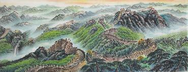 Chinese Great Wall Painting,70cm x 180cm,1017006-x