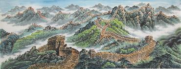 Chinese Great Wall Painting,70cm x 180cm,1017007-x