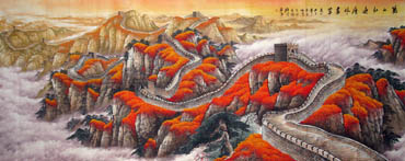 Chinese Great Wall Painting,140cm x 360cm,1026002-x