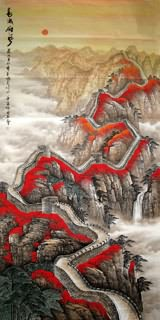 Chinese Great Wall Painting,129cm x 248cm,1026003-x
