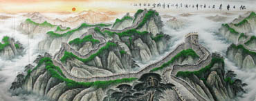 Chinese Great Wall Painting,140cm x 360cm,1026006-x