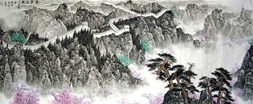 Chinese Great Wall Painting,70cm x 180cm,1027002-x