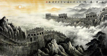 Chinese Great Wall Painting,66cm x 136cm,1038001-x