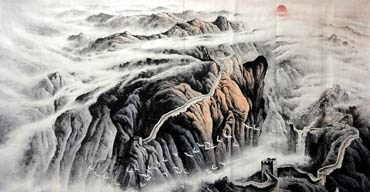 Chinese Great Wall Painting,120cm x 240cm,1038002-x