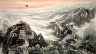 Chinese Great Wall Painting,97cm x 180cm,1038003-x