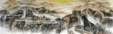 Chinese Great Wall Painting,97cm x 320cm,1043002-x
