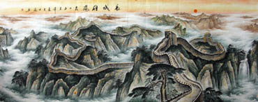Chinese Great Wall Painting,140cm x 360cm,1048005-x