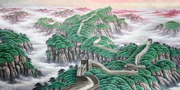 Chinese Great Wall Painting,120cm x 240cm,1057006-x