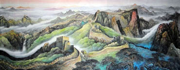 Chinese Great Wall Painting,96cm x 240cm,1057008-x