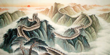 Chinese Great Wall Painting,120cm x 240cm,1081006-x