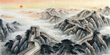 Chinese Great Wall Painting,120cm x 240cm,1081008-x