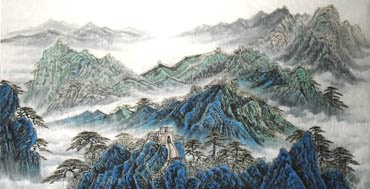 Chinese Great Wall Painting,97cm x 180cm,1084001-x