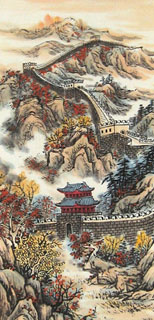 Chinese Great Wall Painting,40cm x 90cm,1085025-x