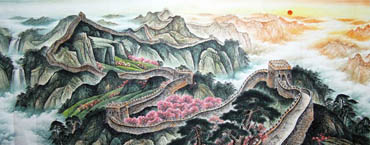 Chinese Great Wall Painting,150cm x 350cm,1086012-x
